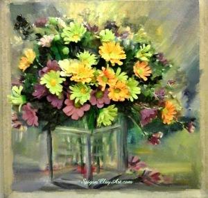 cap130_saigonclayart_daisyflowers_35x35