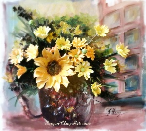 cap139_saigonclayart_sunflowers_58x68cm