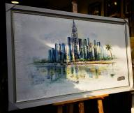 Tác phẩm: Saigon trong tôi Chất liệu: Sơn dầu Size: 80x130cm